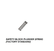 SAFETY BLOCK PLUNGER SPRING ALL MODELS  (FACTORY STD)