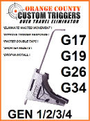 OVER TRAVEL ELIMINATOR with 9mm Ejector Gen-1/2/3/4 17/19/26/34