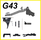 LOWER PARTS KIT FOR GLOCK 43 FITS SS80 (APEX TRIGGER) BLACK